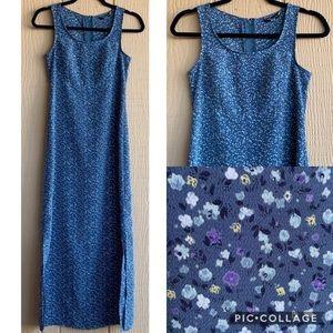 My Michelle vtg 90s floral sleeveless maxi dress